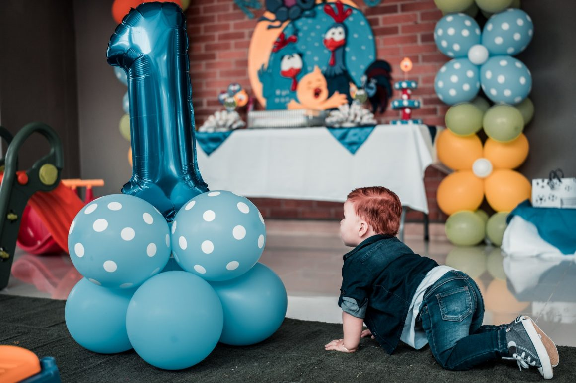 Urodzinowe balony dla chłopca prezent na roczek