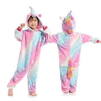 Kolorowa piżama jednorożec