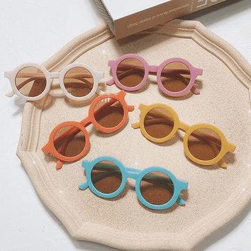 Okrągłe okulary przeciwsłoneczne dla dzieci