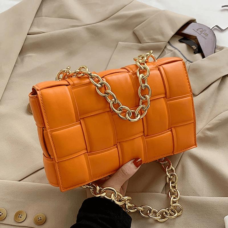 pomarańczowa torebka messenger