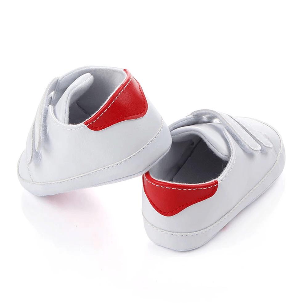 Białe buciki na rzepy dla dziecka