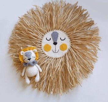 Dekoracja naścienna z lwem
