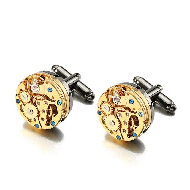Spinki do mankietu w kształcie tarczy zegarka