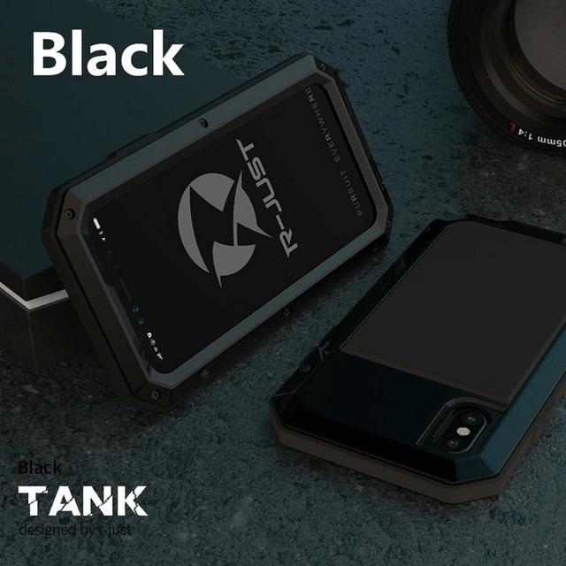 wytrzymałe etui na telefon w kolorze czarnym