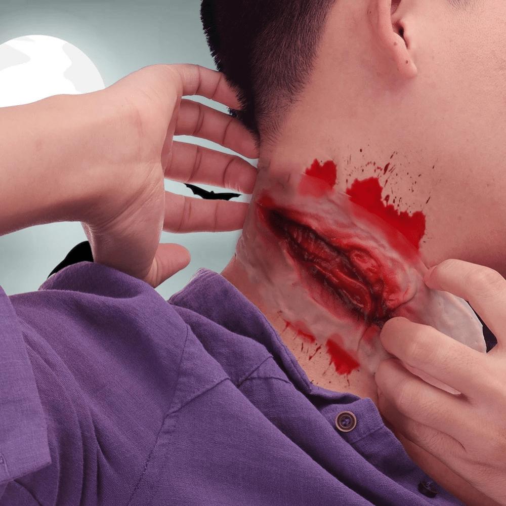Tatuaż imitujący głęboką ranę