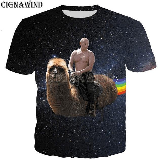 Koszulka z Putinem i lamą