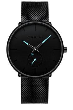 Czarny nowoczesny zegarek