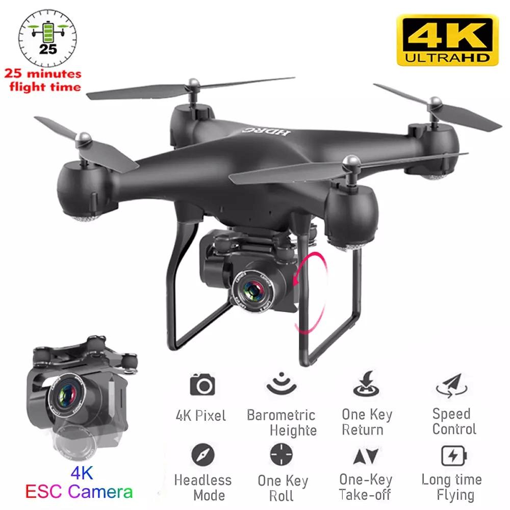 czarny dron z kamerą